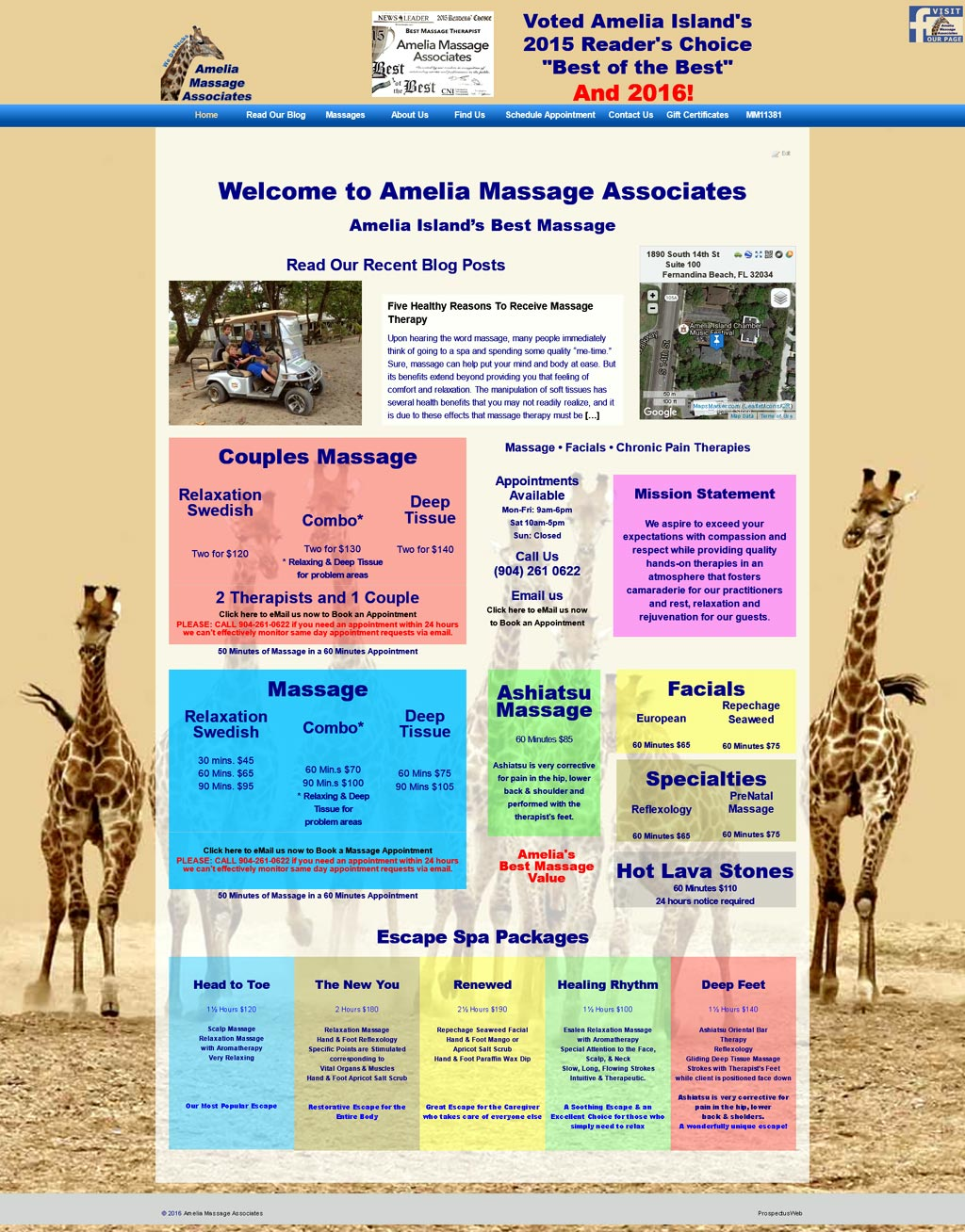 Amelia Massage Associates home page