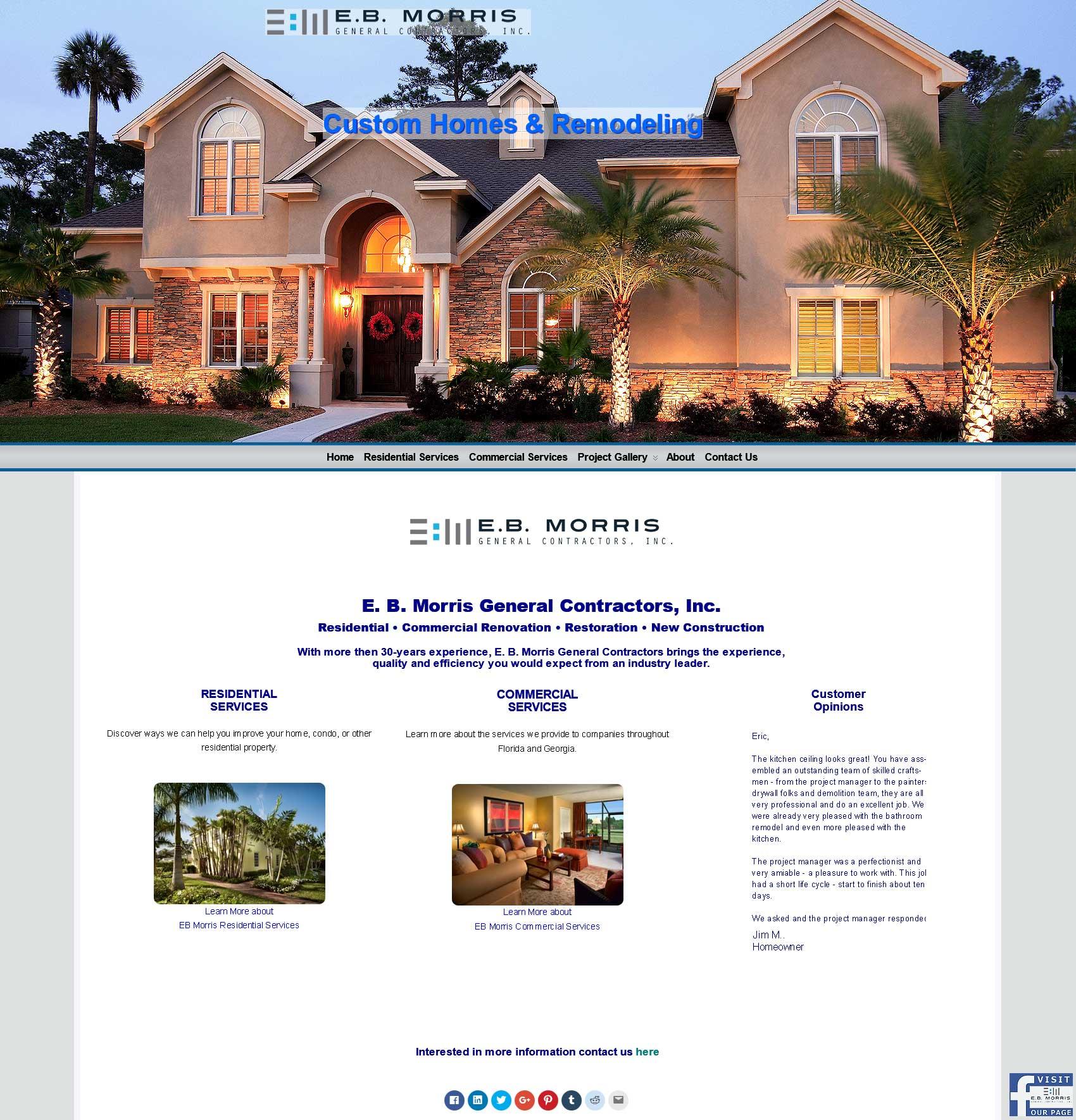 EB Morris GC Home Page