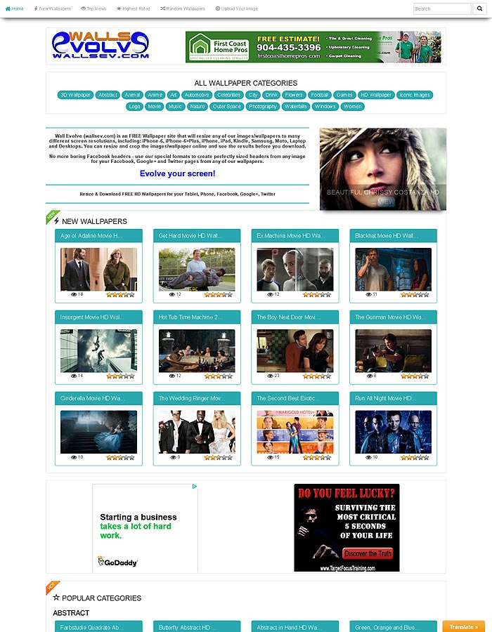 Walls Evolve (wallsev.com) Home Page