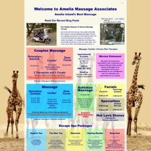 New Website for Amelia Massage Associates