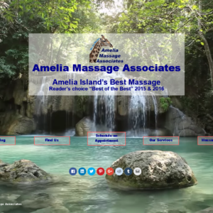 Amelia Massage Video Landing Page