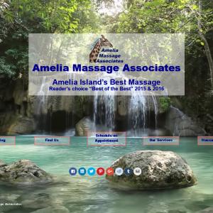 Amelia Massage Video Landing Page
