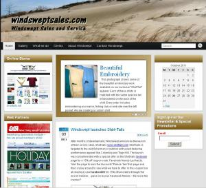 Windswept Sales revamped Web-site