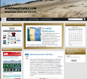 Windswept Sales revamped Web-site
